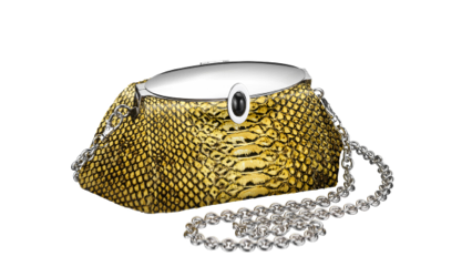 The LAUREN clutch in Python with onyx detail $2750
