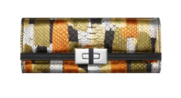 Corinne Disco in metallic python with onyx detail $2250