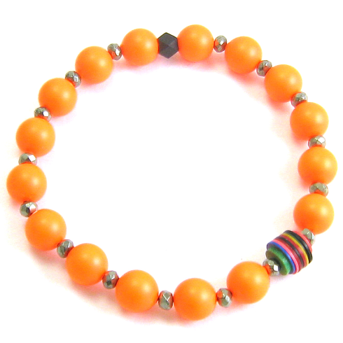 theFFS Orange Beaded Bracelet - $80